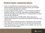 central bank communications