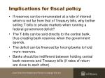 implications for fiscal policy