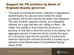 support for pk position by bank of england deputy governor