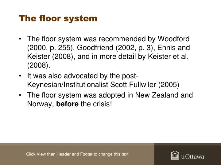 The floor system