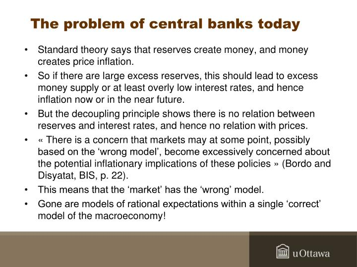 The problem of central banks today