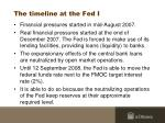 the timeline at the fed i