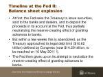 timeline at the fed ii balance sheet explosion