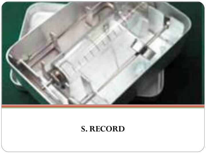S. RECORD