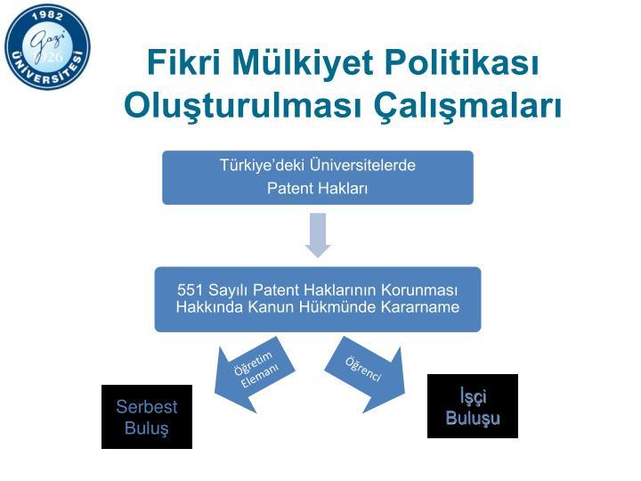 Fikri Mülkiyet Politikası Oluşturulması Çalışmaları