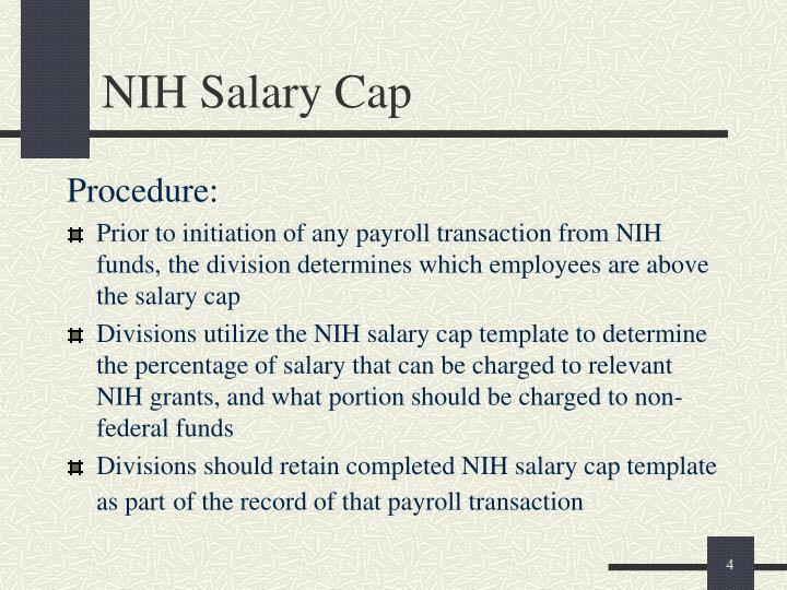 NIH Salary Cap