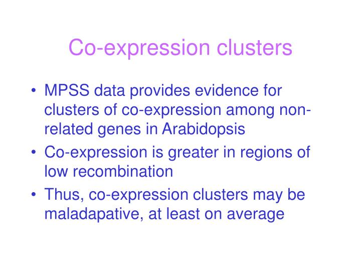 Co-expression clusters