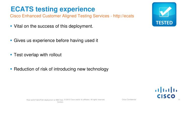 ECATS testing experience