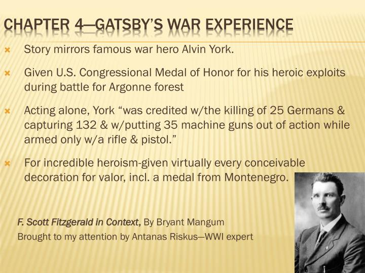 Story mirrors famous war hero Alvin York.
