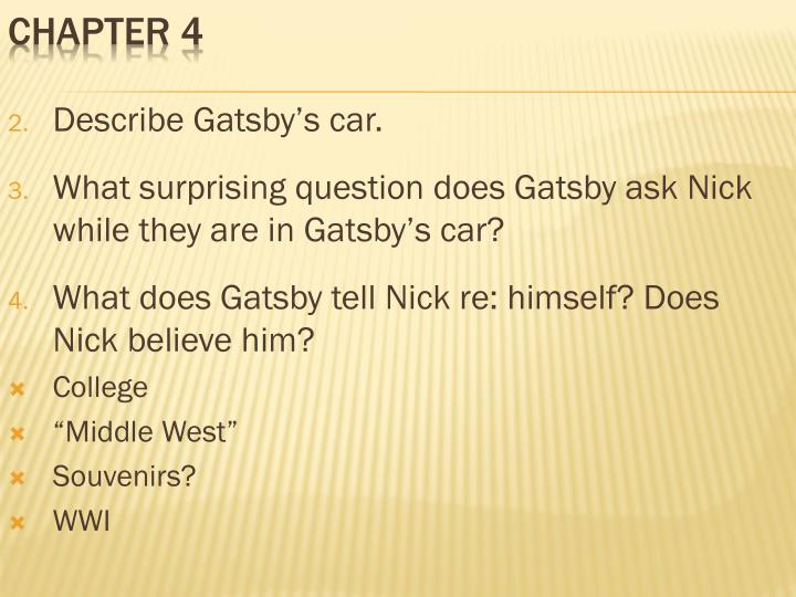 Describe Gatsby's car.