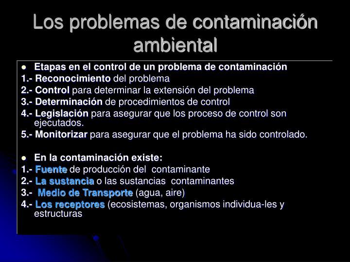 Los problemas de contaminación ambiental
