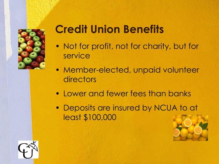 Credit Union Benefits