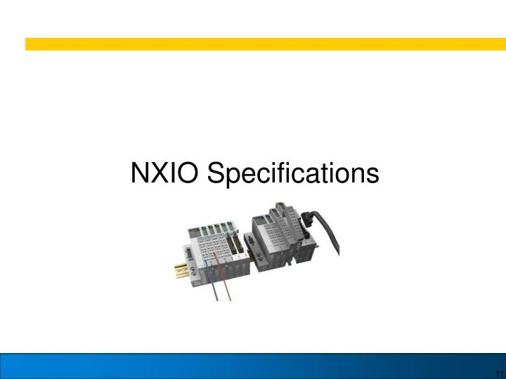 NXIO Specifications