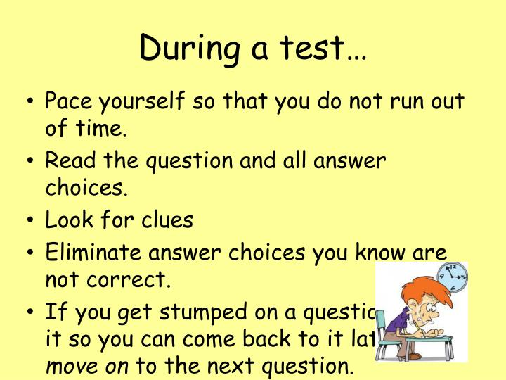 During a test…