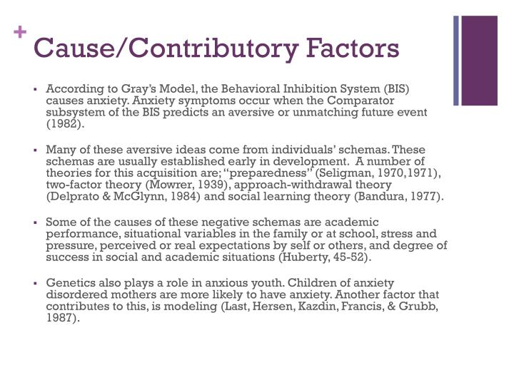 Cause/Contributory Factors