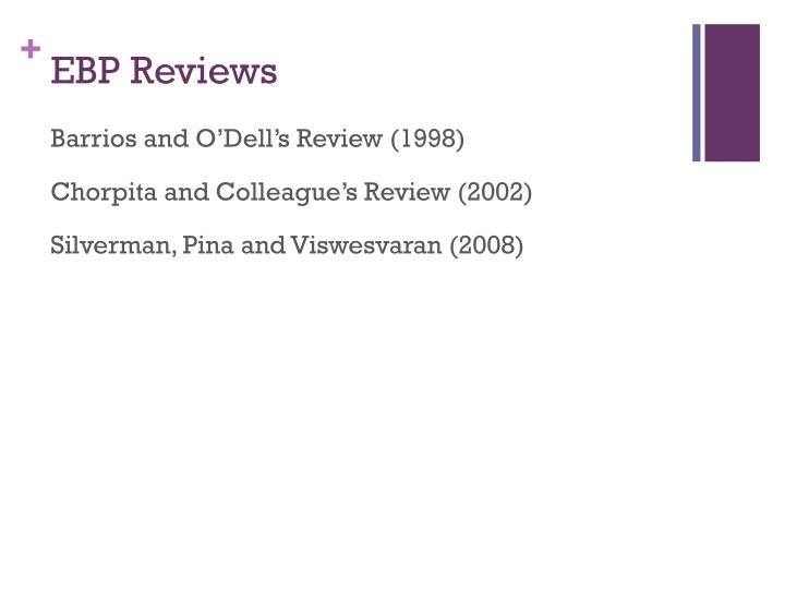 EBP Reviews