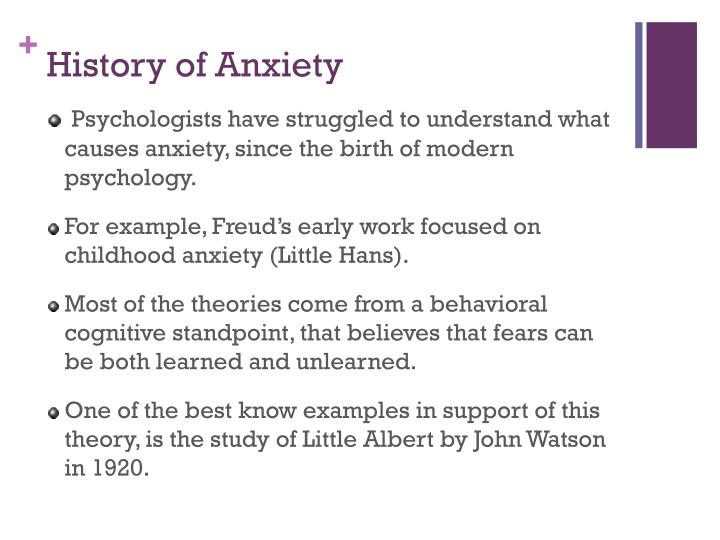 History of Anxiety