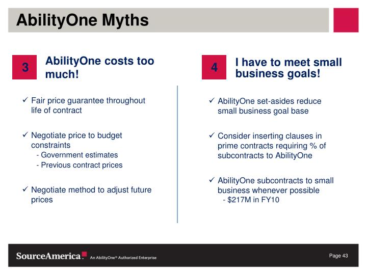 AbilityOne Myths