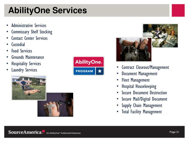 AbilityOne Services