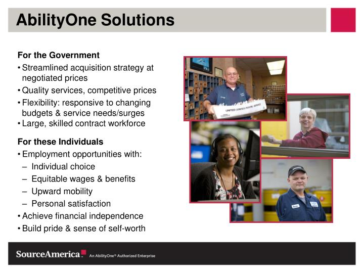 AbilityOne Solutions