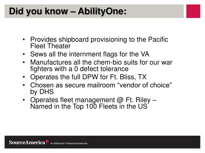 Did you know – AbilityOne: