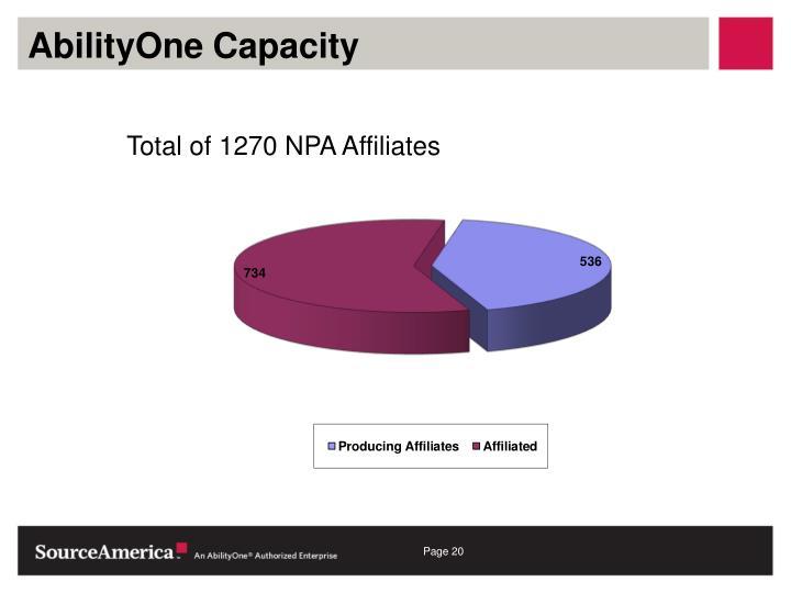 AbilityOne Capacity