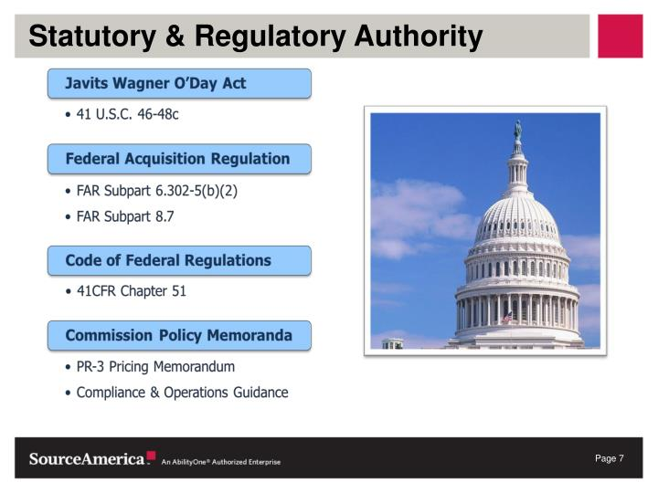 Statutory & Regulatory Authority
