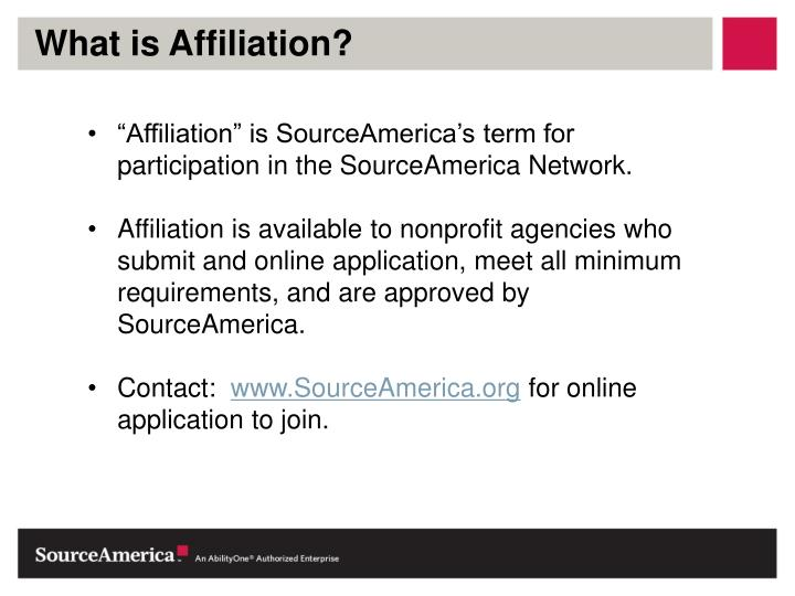 What is Affiliation?
