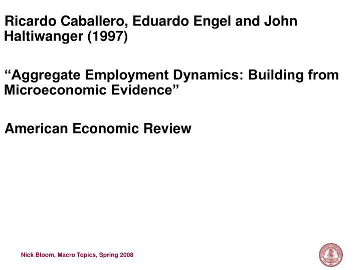 Ricardo Caballero, Eduardo Engel and John Haltiwanger (1997)