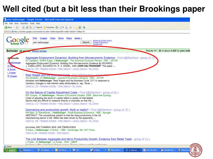 Well cited (but a bit less than their Brookings paper