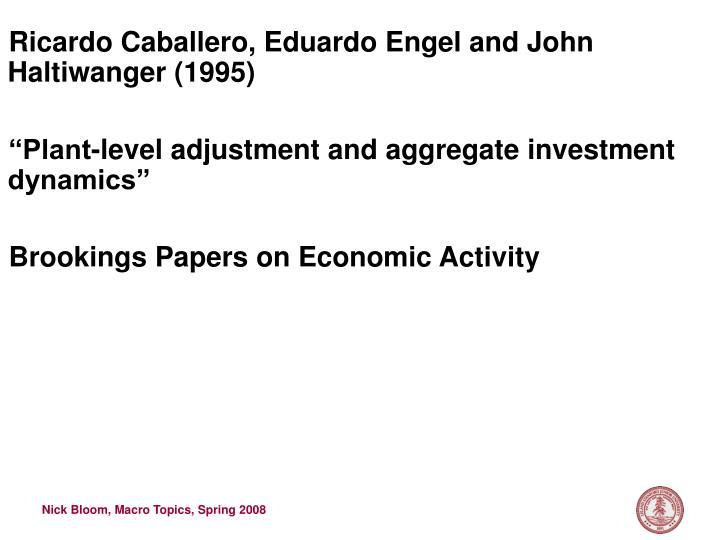 Ricardo Caballero, Eduardo Engel and John Haltiwanger (1995)