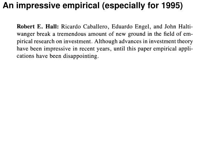 An impressive empirical (especially for 1995)