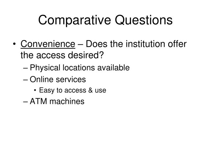 Comparative Questions