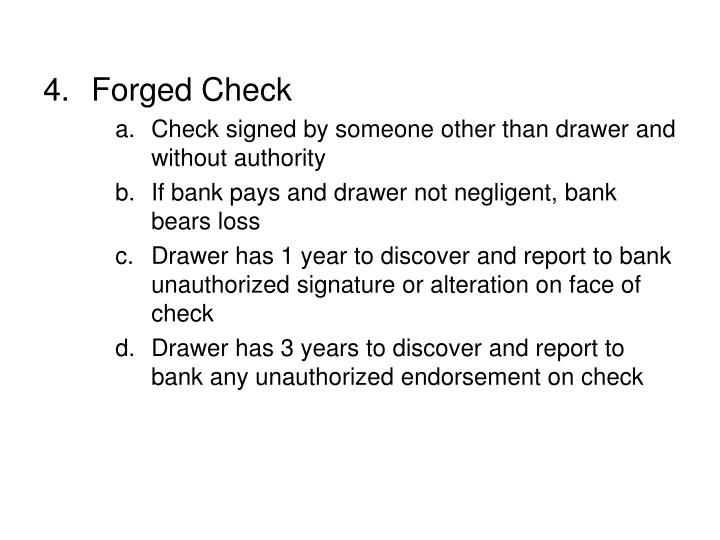 Forged Check