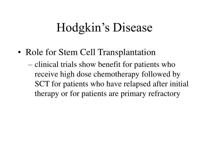Hodgkin's Disease