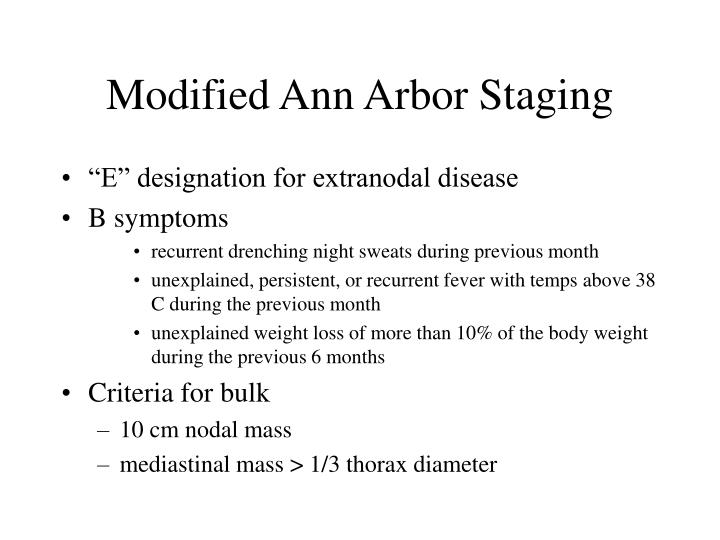 Modified Ann Arbor Staging