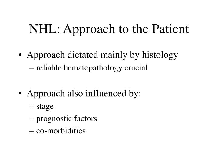 NHL: Approach to the Patient