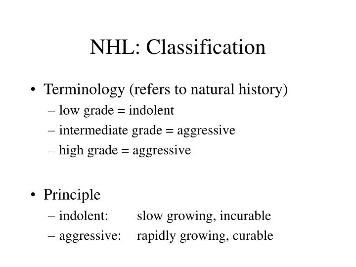 NHL: Classification