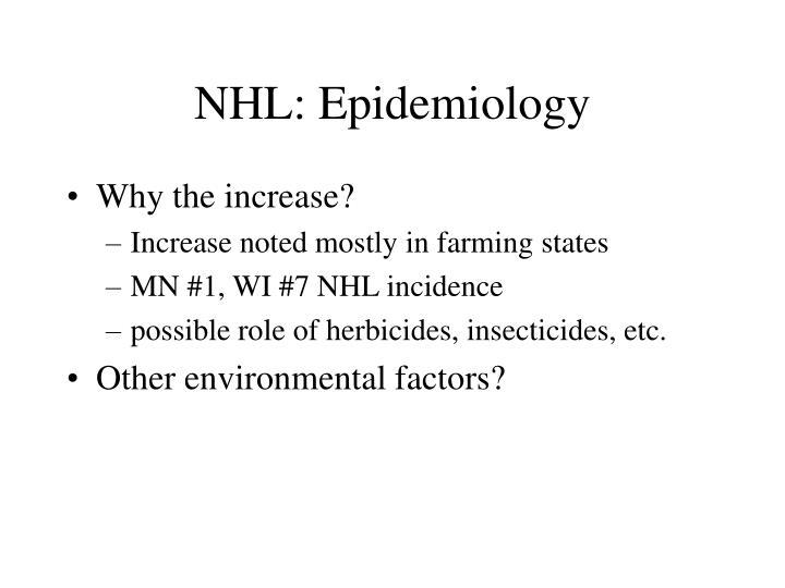 NHL: Epidemiology