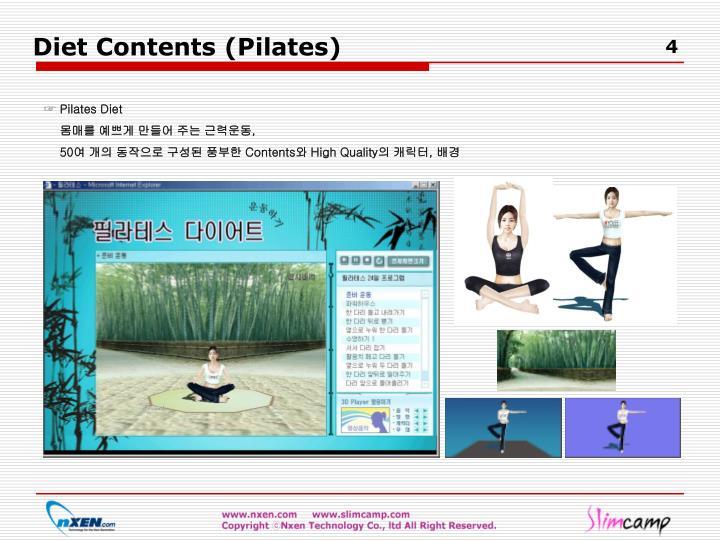 Diet Contents (Pilates)