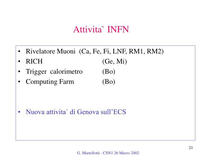 Attivita` INFN
