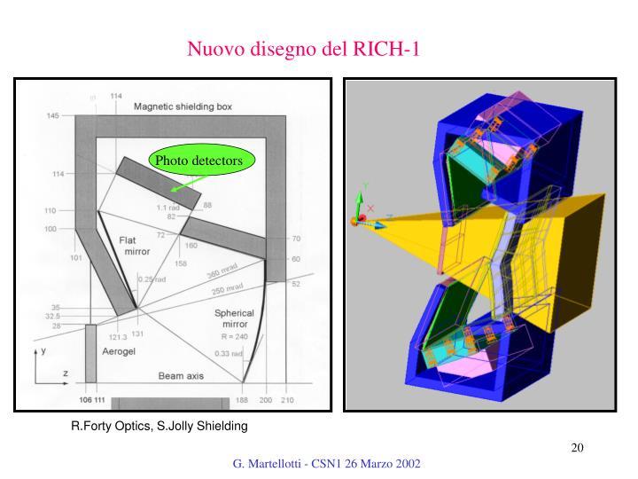 Nuovo disegno del RICH-1