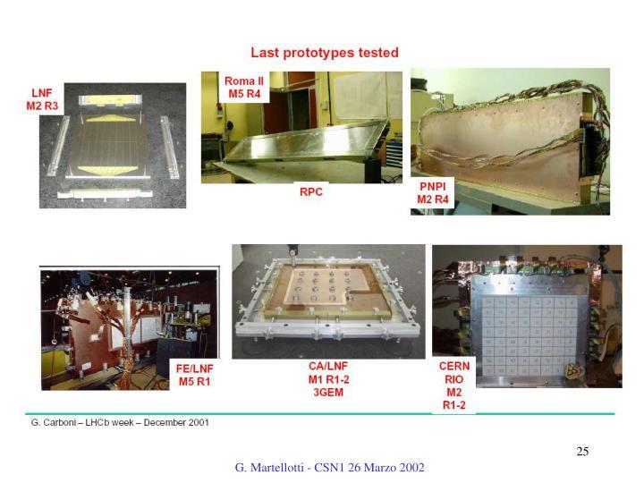 G. Martellotti - CSN1 26 Marzo 2002