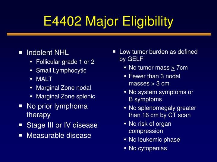 E4402 Major Eligibility