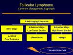follicular lymphoma common management approach