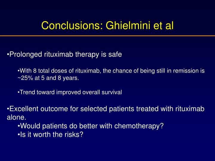 Conclusions: Ghielmini et al