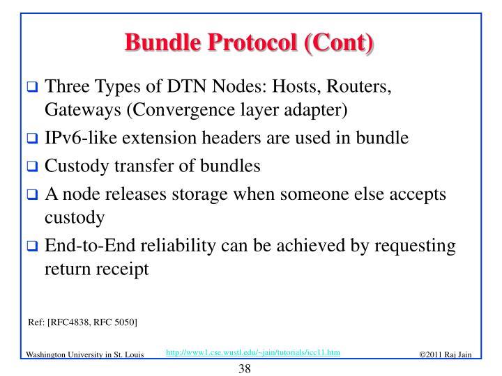 Bundle Protocol (Cont)