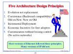 five architecture design principles