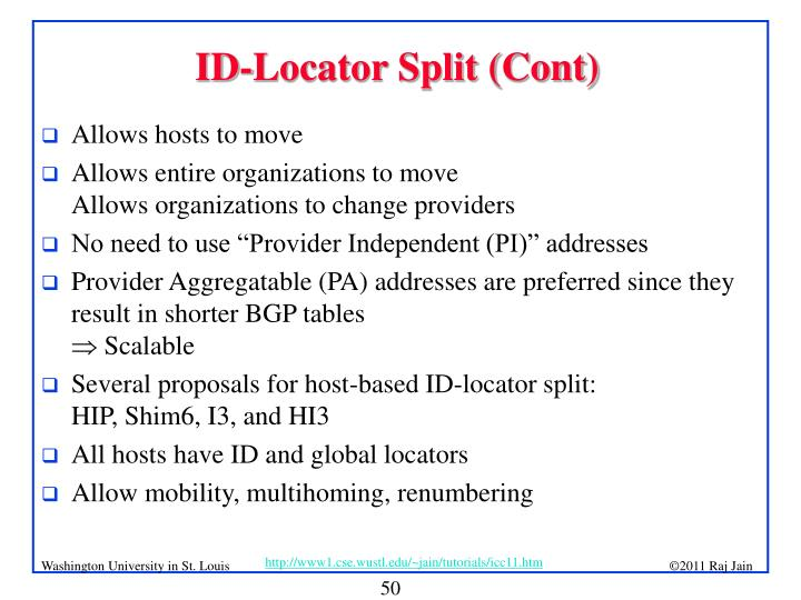 ID-Locator Split (Cont)