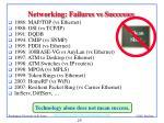 networking failures vs successes